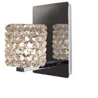 WAC Lighting WS58LED-G539WD/CH Eternity Jewelry 1 Light 4 inch Chrome Wall Sconce Wall Light in 6, White Diamond