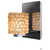 WAC Lighting WS58LED-G539CD/CH Eternity Jewelry 1 Light 4 inch Chrome Wall Sconce Wall Light in 6, Champagne Diamond