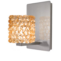 WAC Lighting WS58LED-G539CD/BN Eternity Jewelry 1 Light 4 inch Brushed Nickel Wall Sconce Wall Light