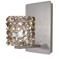 WAC Lighting WS58LED-G539BI/BN Eternity Jewelry 1 Light 4 inch Brushed Nickel Wall Sconce Wall Light in 6, Black Ice