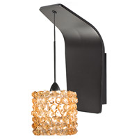 WAC Lighting WS72-G539CD/RB Eternity Jewelry 1 Light 5 inch Dark Bronze Pendant Wall Sconce Wall Light in 50, Champagne Diamond