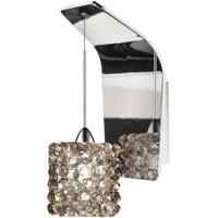 WAC Lighting WS72-G539BI/CH Eternity Jewelry 1 Light 5 inch Chrome Pendant Wall Sconce Wall Light in 50, Black Ice