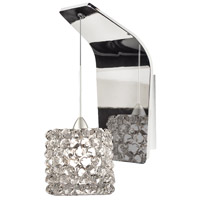 WAC Lighting WS72LED-G539WD/CH Eternity Jewelry LED 5 inch Chrome Pendant Wall Sconce Wall Light in 4, White Diamond