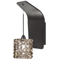 WAC Lighting WS72LED-G539BI/RB Eternity Jewelry LED 5 inch Dark Bronze Pendant Wall Sconce Wall Light in 4, Black Ice