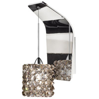 WAC Lighting WS72LED-G539BI/CH Eternity Jewelry LED 5 inch Chrome Pendant Wall Sconce Wall Light in 4 Black Ice