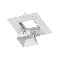 WAC Aether Recessed Lighting Square Trimless Spackle Frame in White HR-3LED-TL820-WT