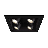 Precision Multiples LED Black 2X2 Recessed Trim