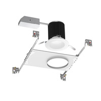 WAC Summit LED Recessed Housing and Trim in White HR-3LED-17R-F30-WT