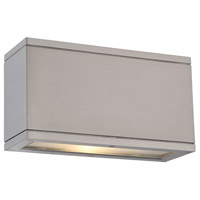 WAC Lighting WS-W2510-AL Rubix LED 5 inch Brushed Aluminum Indoor/Outdoor Wall Sconce