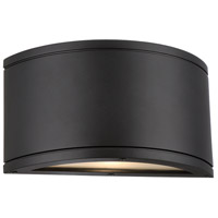 WAC Lighting WS-W2609-BK Tube LED 5 inch Black Indoor/Outdoor Wall Sconce