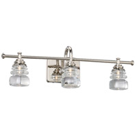 Rondelle LED 24 inch Polished Nickel Vanity Light Wall Light, dweLED