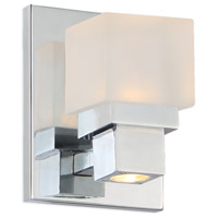 Kube LED 5 inch Chrome ADA Wall Sconce Wall Light, dweLED