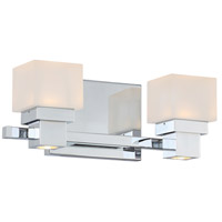 WAC Lighting WS-44512-CH Kube LED 12 inch Chrome Vanity Light Wall Light, dweLED