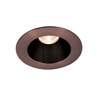 Tesla Recessed Lighting Module Specular Black Inside with Copper Bronze Exterior High Output Recessed Trim in 2700K, 85, 55 Degrees