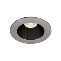 WAC Tesla Recessed Lighting LED High Output Trim in Specular Black Interior with Brushed Nickel Exterior HR3LEDT118PF930BBN
