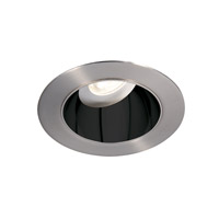 Tesla Recessed Lighting Module Specular Black Inside with Brushed Nickel Exterior High Output Recessed Trim in 2700K, 85, 30 Degrees