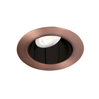 WAC Tesla Recessed Lighting LED High Output Trim in Specular Black Interior with Copper Bronze Exterior HR3LEDT318PN827BCB
