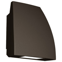 Endurance LED 8 inch Architectural Bronze Outdoor/Indoor Wall Pack in 3000K