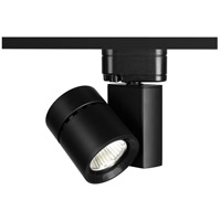 WAC Lighting Exterminator II LED 35W H Track Fixture 3000K Flood Beam in Black H-1035F-830-BK