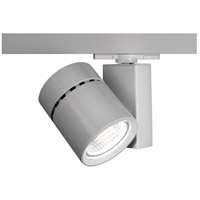 WAC Lighting WTK-1035F-830-PT Architectural Track System 1 Light 120V Platinum LEDme Directional Ceiling Light in 3000K, 85, 55 Degrees