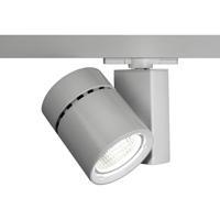 WAC Lighting WHK-1035F-830-PT Architectural Track System 1 Light 277V Platinum LEDme Directional Ceiling Light in 3000K 85 55 Degrees