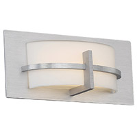 WAC Lighting WS-21611-AL Compass LED 11 inch Brushed Aluminum ADA Wall Sconce Wall Light in 11in, dweLED