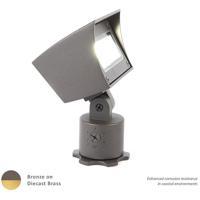 WAC Lighting 5021-27BBR Landscape LED 6 inch Bronzed Brass Flood Light in 2700K 85