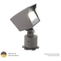 WAC Lighting 5021-30BBR Landscape LED 6 inch Bronzed Brass Flood Light in 3000K, 85