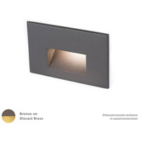 WAC Lighting 4011-27BBR Landscape 12v 2.00 watt Bronzed Brass Step and Wall Light in 2700K Frosted
