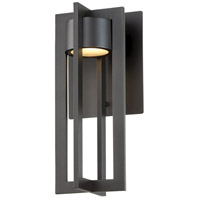 WAC Lighting WS-W48612-BZ Chamber LED 6 inch Bronze Wall Light in 12in, dweLED