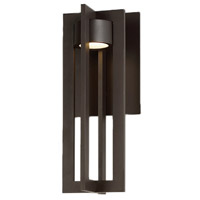 WAC Lighting WS-W48616-BZ Chamber LED 7 inch Bronze Wall Light in 16in, dweLED