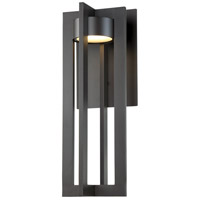 Chamber LED 20 inch Bronze Outdoor Wall Light, dweLED