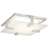 WAC Lighting FM-57614-BN Meridien LED 14 inch Brushed Nickel Flush Mount Ceiling Light, dweLED