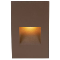 WAC Lighting 4021-AMBZ Landscape 12v 2.00 watt Bronze Step and Wall Light in Amber