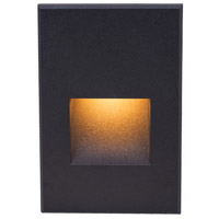 WAC Lighting 4021-AMBK Landscape 12v 2.00 watt Black Step and Wall Light in Amber