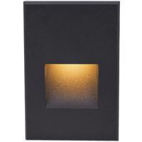 WAC Lighting 4021-AMBK Landscape 12v 2.00 watt Black Step and Wall Light in Amber
