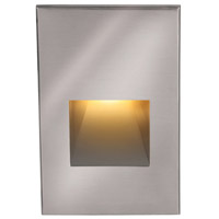 WAC Lighting 4021-AMSS Landscape 12v 2.00 watt Stainless Steel Step and Wall Light in Amber