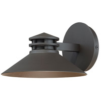 Sodor LED 5 inch Bronze Outdoor Wall Light, dweLED