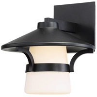 Abode LED 10 inch Black Outdoor Wall Light, dweLED