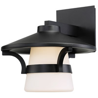 Abode LED 11 inch Black Outdoor Wall Light, dweLED