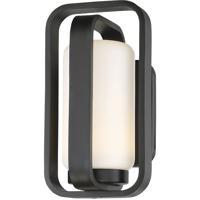 WAC Lighting WS-W34712-BK Vertigo LED 7 inch Black Wall Light in 12in, dweLED