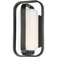 WAC Lighting WS-W34714-BK Vertigo LED 9 inch Black Wall Light in 14in, dweLED