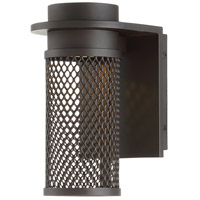 Mesh LED 9 inch Bronze Outdoor Wall Light, dweLED