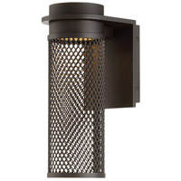 Mesh LED 12 inch Bronze Outdoor Wall Light, dweLED