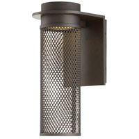 Mesh LED 15 inch Bronze Outdoor Wall Light, dweLED