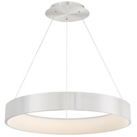 Corso LED 32 inch Brushed Aluminum Pendant Ceiling Light in 32in, dweLED
