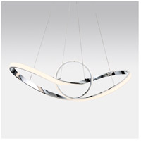 WAC Lighting PD-87735-CH Vornado LED 35 inch Chrome Pendant Ceiling Light in 35in, dweLED alternative photo thumbnail