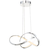 Vornado LED 20 inch Chrome Pendant Ceiling Light in 20in, dweLED