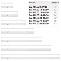 WAC Lighting BA-ACLED42-27/30AL Duo 120V LED 42 inch Brushed Aluminum LED Light Bar