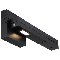 Flip 5 inch 8.50 watt Black Swing Arm Lamp Wall Light, dweLED